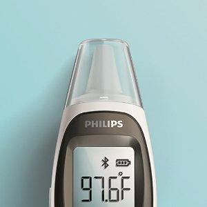 Philips Connected Ear Thermometer, White, DL8740/37