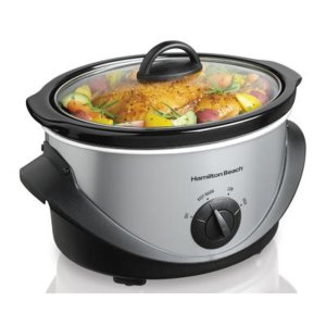 Hamilton Beach Brands Inc. 4-Quart Black/Stainless Steel Oval Slow Cooker