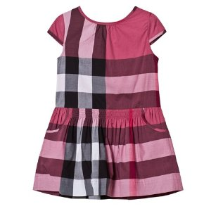 Burberry Pink Classic Check Dress | AlexandAlexa