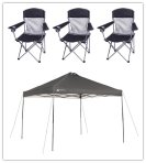 Ozark Trail 10x10 Canopy with 4 Basic Mesh Chairs Value Bundle