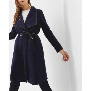 Bouclé wrap coat