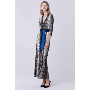 Abigail Silk Jersey Maxi Wrap Dress | Landing Pages by DVF