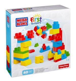5.90 Mega Bloks First Builders Lots of Blocks 40 piece