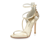 Stuart Weitzman Wildthing Floral Leather Leather Sandal, Sun