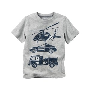 Baby Boy Rescue Car Graphic Tee   Carters.com