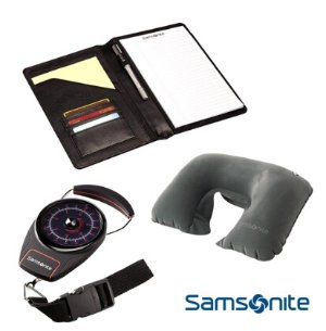 $17.95 Samsonite Deluxe Travel Kit with Portable Luggage Scale, Neck Pillow, PadFolio Organizer