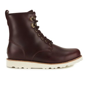 UGG Men's Hannen TL Waterproof Leather Lace Up Boots - Cordovan - FREE UK Delivery