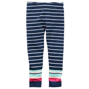 Baby Girl Striped Leggings   Carters.com