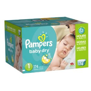 Pampers Baby Dry Diapers, Economy Pack, 174 Ct, Size 1 | Jet.com