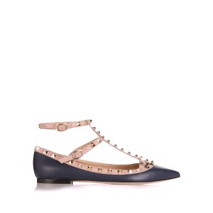 Rockstud leather flats | Valentino