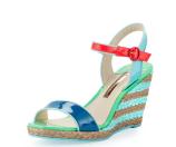 Sophia Webster Lucita Colorblock Espadrille Sandal, Bora Bora