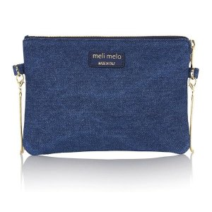 Thela clutch bag blue denim | meli melo Double 12 sale