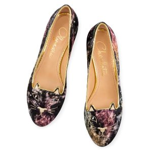 KITTY FLATS|SLIPPER|Charlotte Olympia SHOES