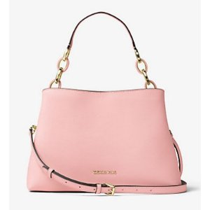 Portia Large Saffiano Leather Shoulder Bag
