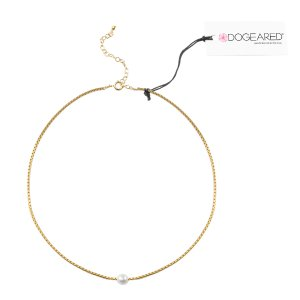 Pearl and Chain Choker, Gold Dipped | Dogeared