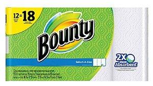 $14.99 Bounty Select-A-Size Paper Towels, 12 Giant Rolls = 18 Regular Rolls