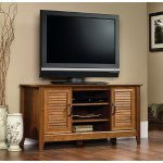 Sauder Milled Cherry Panel TV Stand for TVs up to 47