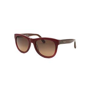 Salvatore Ferragamo Women's Square Burgundy Gradient Sunglasses