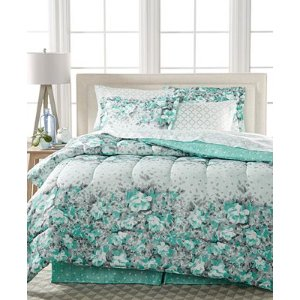 Gilmore 8-Pc. Reversible Queen Bedding Ensemble - Bed in a Bag - Bed & Bath - Macy's