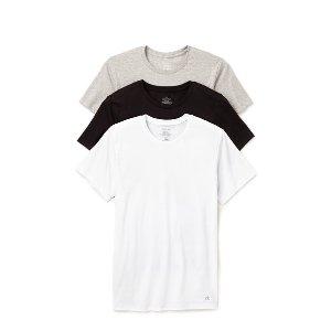 Calvin Klein Underwear 3 Pack Cotton Classic Crew Neck T-Shirts | EAST DANE