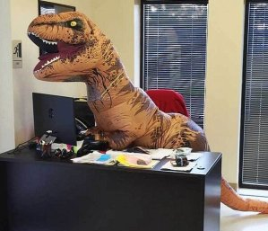 $89.98 2x Jurassic World Adult Inflatable T-Rex Costume