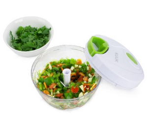 Kuuk Mini Pull Chopper Food Processor - Vegetable, Fruit, Garlic and Herb Slicer
