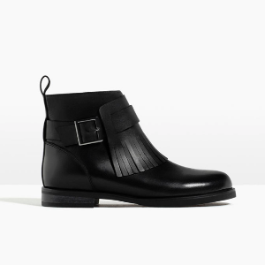 FRINGED LEATHER ANKLE BOOTS - GIRL-SPECIAL PRICES-KIDS | ZARA United States