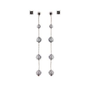 Long Drop Crystal Earrings - Sale
