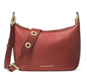MICHAEL Michael Kors Raven Medium Leather Messenger Bag @Lord & Taylor