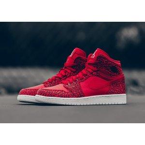 Jordan AJ 1 High - Men's - Basketball - Shoes - Gym Red/Team Red/White/White