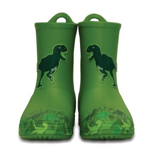 Crocs Parrot Green Dinosaur Bump It Rain Boot | zulily