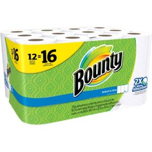$12.97 Bounty Select-a-Size Big Roll Paper Towels, 84 sheets, 12 rolls