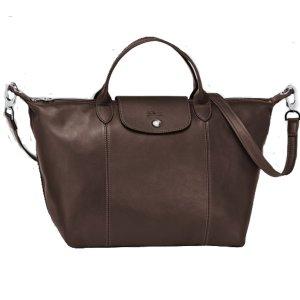 Longchamp Le Pliage Cuir Medium Handbag   Sands Point Shop