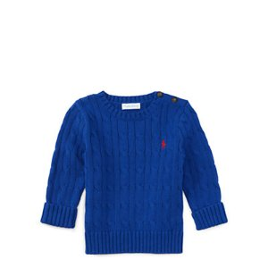 Cable-Knit Cotton Sweater - Sweaters � Baby - RalphLauren.com