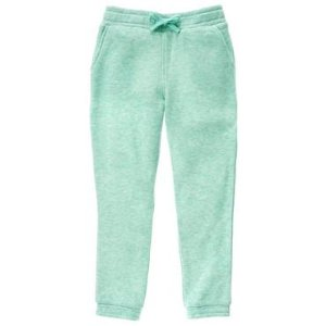 Girls Mint Heather French Terry Sweatpants by Gymboree