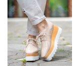 Stella McCartney Faux Leather Triple Sole Lace-Up Shoes