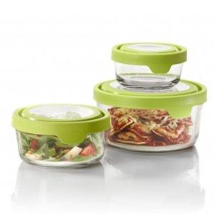 ANCHOR HOCKING 6 Pc. TrueSeal Round Value Pack w/ Green Lid - Food Storage Sets - Food Storage - Storage & Organization
