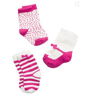 layette three-pack sock set @ kate spade