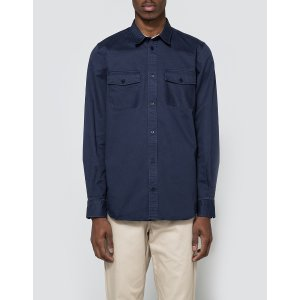 Norse Projects Villads Compact Twill Shirt in Navy