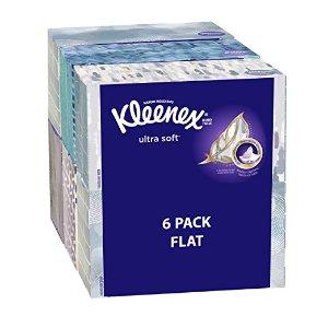 $10.71包邮销量冠军!Kleenex 柔软面巾纸, 170张x6盒