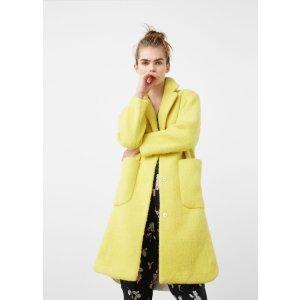 Cotton wool-blend coat - Woman