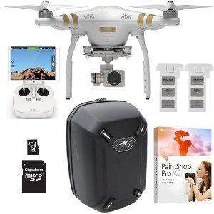 $849DJI Phantom 3 Professional Quadcopter Drone 4K Camera Dual Battery Flight Bundle
