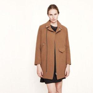 GARIUS Biker-style wool coat - Coats & Jackets - Maje.com