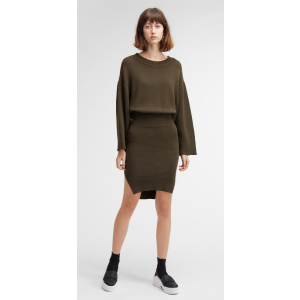long sleeve crew neck dress | DKNY.com
