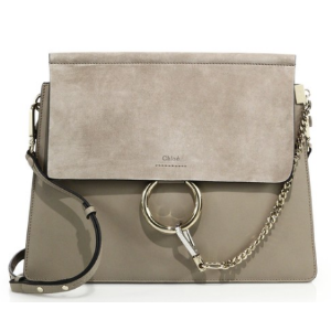 Faye Medium Suede & Leather Shoulder Bag by Chloé
