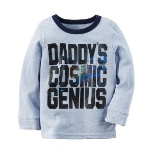 Baby Boy Long-Sleeve Cosmic Genius Graphic Tee | Carters.com