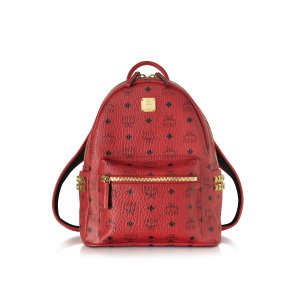 MCM Stark Ruby Red Small Backpack at FORZIERI