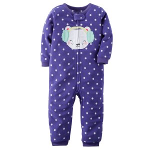 Baby Girl 1-Piece Fleece PJs | Carters.com