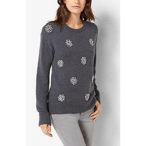 MICHAEL MICHAEL KORS Embellished Wool-Blend Sweater