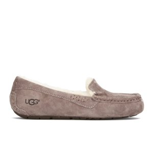 UGG Women's Ansley Moccasin Suede Slippers - Stormy Grey - FREE UK Delivery